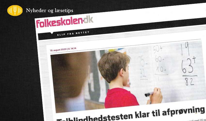 Featured billede til artikel om ny talblindhedstest